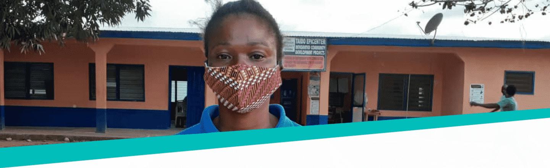 Meisje-met-mondkapje-Ghana-The-Hunger-Project